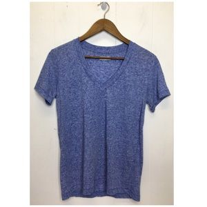 Madewell | V Neck Blue Heathered T-shirt No Flaws